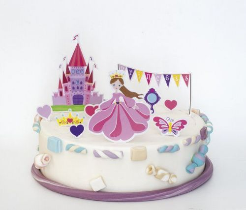 Princess Cake Decorations Stand Ups Beautiful Story Book Royal Regal Hero